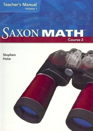Saxon Math Course 2: Teacher Manual 2-Volume Set 2007