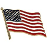 USA Flag Lapel Pin Standard - Flag A-Series 3 with Longer Pole
