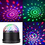 YMXING LED Stage Magic Ball Light Party Lights LED DJ Light Intelligent Voice RGB Rotating For KTV Xmas Party Wedding Home Show Club Pub Decor Disco D