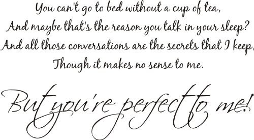 ONE DIRECTION YOUR PERFECT TO ME QUOTE CHILDREN WALL ART VINYL STICKER MUSIC DIY (BLACK, 100x55CM) by FSSS Ltd (Wall Decals Quotes One Direction compare prices)