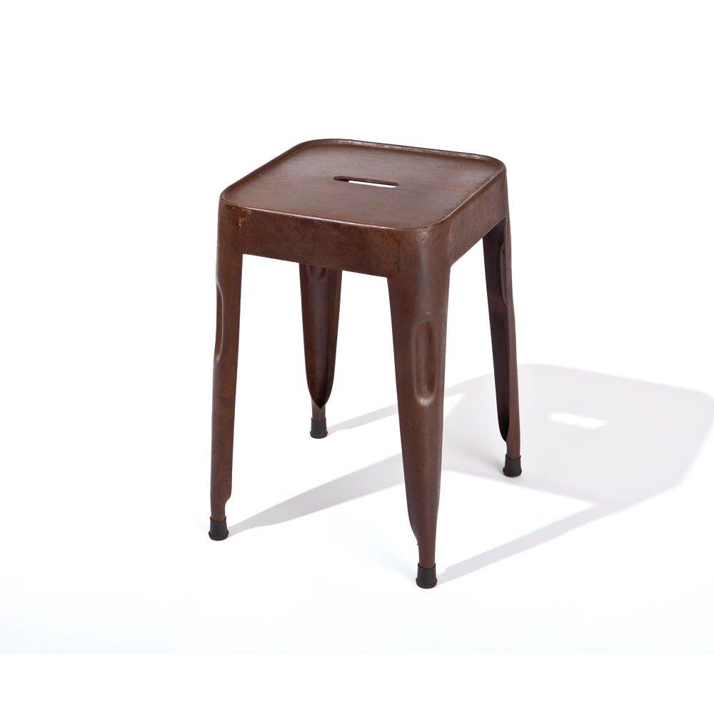 Sitzhocker in Rostfarben Metall (4er Set) Pharao24