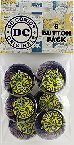 Button set DC Comics Originals Riddler 6 Individual Loose Buttons, 1.25""