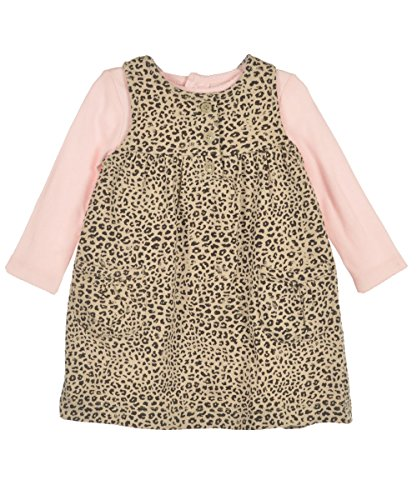 Carter'S Baby Girls 2-Piece Bodysuit & French Terry Jumper Set (9 Months, Leopard Print) front-938393