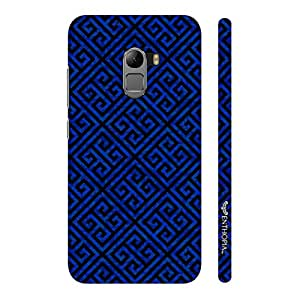 Enthopia Designer Hardshell Case Blue Greecian Pattern Back Cover for Lenovo K4 Note