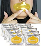 Anti Aging Treatments Set / Kit of 10pcs Lips / Mouth 24K Gold Collagen Gel Crystal Masks / Patches for Fine Lines and Wrinkles Removal, Moisturizing / Hydration, Skin Firming and Nourishing
