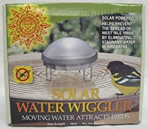 SOLAR WATER WIGGLER (Catalog Category: Wild Bird:BATHS & HOUSES)