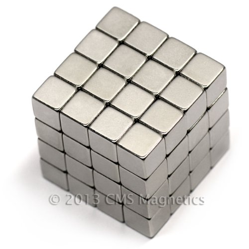 "64 Ct. Cms Magnetics® Neodymium Magnets N50 1/4"" Cube front-513911"