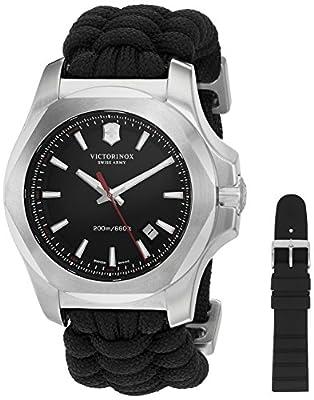 Victorinox Men's 'I.N.O.X.' Swiss Quartz Stainless Steel Casual Watch (Model: 241726.1)