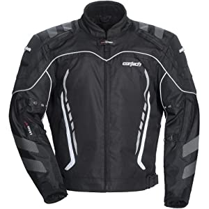 Cortech GX Sport 3.0 Men's Textile Sports Bike Racing Motorcycle Jacket - Black/Black / 2X-Large