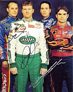 Buy 2008 Dale Jr Jeff Gordon Jimmie Johnson Mears (Hendrick Team) 8X10 Photo *4X SIGNED* by Trackside Autographs