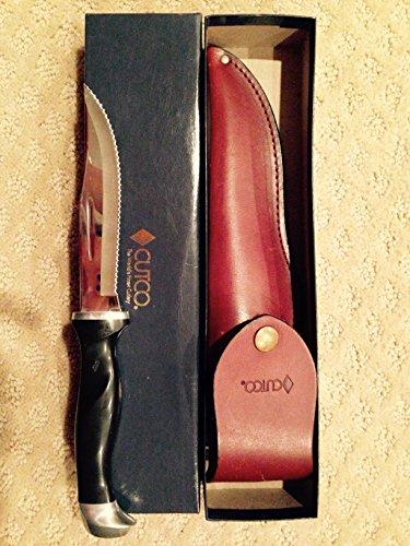 CUTCO Model 1769 Hunting Knife with Leather sheath in White CUTCO Gift Box..........Classic Brown handle (sometimes called black)..............5-3/8