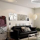 2016 Nouveau hot Acrylique grand miroir Stickers muraux autocollant 3D Home Decor muraux rétroviseur accueil décoration wall art moderne de bricolage...