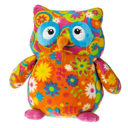 Mary Meyer New Arrivals Print Pizzazz Assortment of Baby Toys (Olio Owl - Flowered Belly)