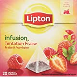 Lipton Infusion Tentation Fraise Framboise 20 sachets - Lot de 3