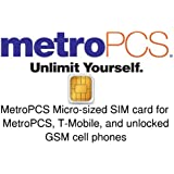 Metropcs Sim Card for Unlocked GSM or Metropcs Cell Phone (Micro sized SIM)