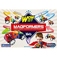 16-Pieces Magformers Vehicle Wow Set
