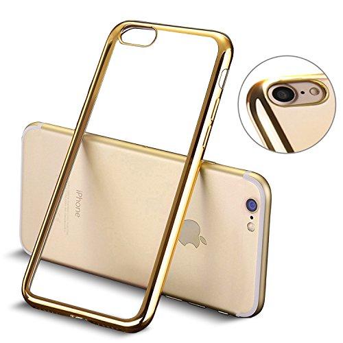 Coque iPhone 7, MTURE Placage Coque iPhone 7 Housse Etui Couverture Gel Silicone Clair Transparente Case Ultra Mince Ultra Léger TPU Bumper Cover pour...