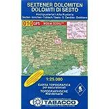 "Sextener Dolomiten: Wanderkarte Tabacco 010. 1:25000: Dolomiti di Sesto (Cartes Topograh)von ""Tabacco"""