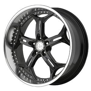Helo HE834 Gloss Black Machined Wheel – (18×8″/5×4.5″)