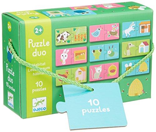 Djeco Duo Puzzle Habitat 10 Puzzles/20pc - 1
