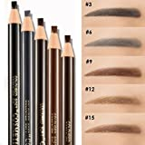 12 Pcs Waterproof Eyebrow Pencils By Amareu Peel-Off Brow Pencil Set For Marking, Filling And Outlining, Tattoo Makeup And Microblading Supplies Kit-Permanent Eye Brow Liners In 5 Colors (Color: 4 color, Tamaño: Free)