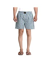 London Bee Checkered Men's Boxer - B00Z043TZY