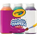Crayola 3 Count 8-Ounce Artista II Washable Tempera Secondary Color Set