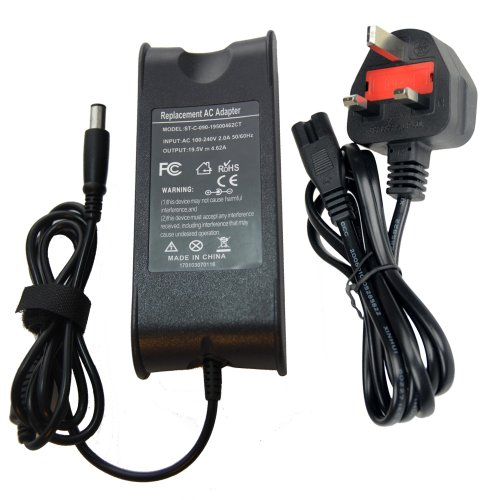 Selectec® Brand New Laptop AC Adapter Power Supply Charger + UK Power Cord for DELL INSPIRON 1420 1501 1520 1521 1525 1526 1545 9200 9300 9400 300m 500m 505m 510m 600m 610m 630m 640m 700m 710m