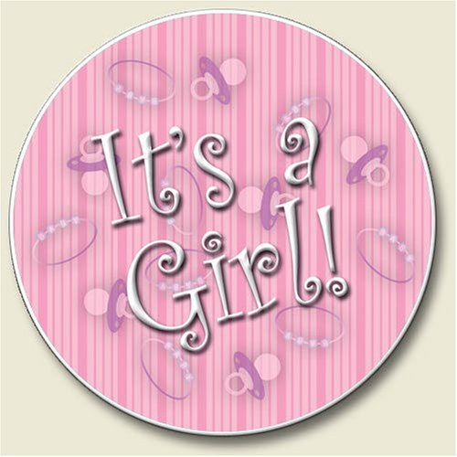 AutoCoaster ~ It's A Girl ~ Tile Drink Coaster for car cupholder ~ code 759