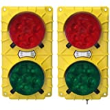 "IRONguard SG30 LED Stop and Go Light Signal System, 6-3/8"" Width x 11-3/8"" Height x 3-3/4"" Depth"