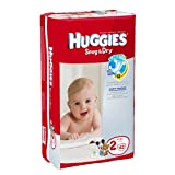 Huggies Baby Diapers, Snug & Dry, Size 2 (12 - 18 lbs), Case of 4/42s (168 ct)