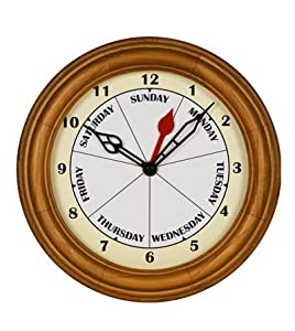 Dayclocks Oak Contemporary Day Clock 9 78 Dia from DayClocks