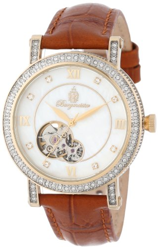 Burgmeister Uppsala BM511-285 Ladies Automatic Analogue Watch with Brown Dial