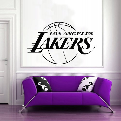 Wall Mural Vinyl Sticker Decal Gift Shop Gym Sports Logo Lakers Da2583