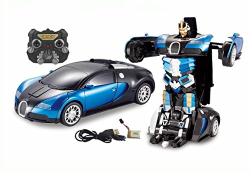 Catterpillar 1:14 Scale Remote Controlled one Button Car To Transformer to Car Converting Bugatti Style Transformer