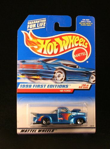 '40 FORD * BLUE w/Thailand Base * 1998 FIRST EDITIONS SERIES #20 of 40 HOT WHEELS Basic Car 1:64 Scale Series * Collector #654 * - 1