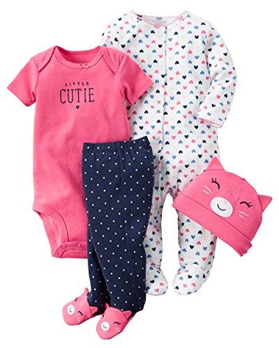 Carter's Baby Girls' 4 Piece Layette Set (Baby) - Little Cutie-Newborn