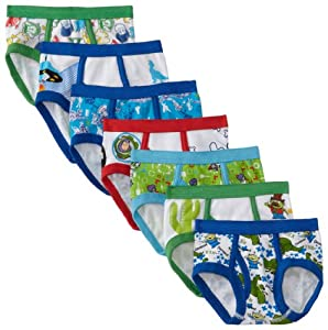 Disney Pixar Toy Story 7 Pack Toddler Boys Briefs from Handcraft