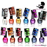 Kleancolor Nail Polish - Awesome Metallic Full Size Lacquer (Set of 12 Pieces) (Color: Multicolor, Tamaño: MIX)