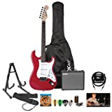 51WedwN4qGL. SL160  Fender Starcaster Strat Electric Guitar, Amp and Accessories   Candy Apple Red