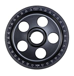 EMPI 33-1065-0 ALUMINUM VW DEGREE PULLEY, BLACK, SAND SEAL, BOLT-ON