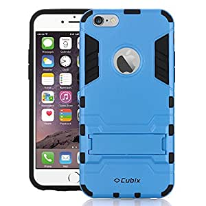 Swan [Military Grade] with Built-in Kickstand Shockproof and [Impact Dispersion Technology] For iPhone 6 Plus (Blue)