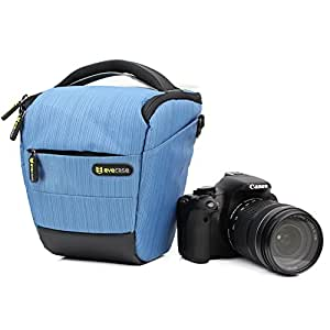 Evecase Blue Digital SLR Camera Carrying Case for Nikon D5500 D7100 D5100 D3100 D5200 D3200 D5300 D3300, D810, COOLPIX P610 P530 P520 P510 L830 L820 L810 L310 Digital Camera