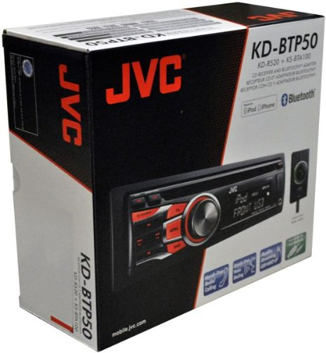 Jvc Kd-Btp50 In-Dash Single Din Kd-R520 Cd/Mp3/Wma Receiver W/ Included Bluetooth Adapter, Usb & Auxiliary Input