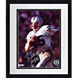 Framed Fred Biletnikoff Oakland Raiders Autographed 8'' x 10'' Running with Ball... by