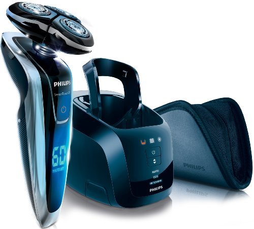 Philips SensoTouch RQ1280cc GyroFlex 3D Rotary Rechargeable Shaver with Clean and Charge Stand