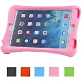 NEWSTYLE Shock Proof Case Light Weight Kids Super Protection Cover with Audio Amplifier Design for Apple iPad mini / iPad mimi 2 / iPad mini 3 3rd Gen (2014 Released) - Pink Color