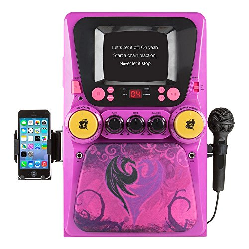 Hello-Kitty-68109-CD-Karaoke-System-with-Screen-PinkWhite