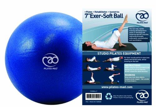 """Yoga-Mad Exer-Soft Ball 7"""" Blue"""