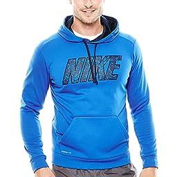 New Nike Men\'s KO Block Nike Pullover Hoodie Game Royal/Obsidian Small